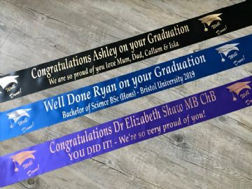Personalised Graduation Banners